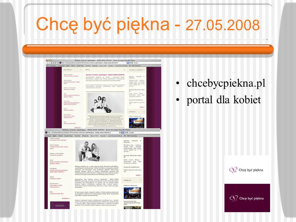 Chcę być piękna - 27.05.2008 chcebycpiekna.pl portal dla kobiet