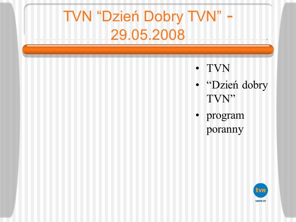 TVN Dzień Dobry TVN - 29.05.2008 TVN Dzień dobry TVN