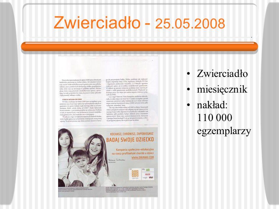 Zwierciadło - 25.05.2008 Zwierciadło miesięcznik