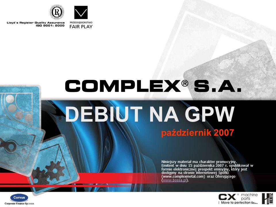 DEBIUT NA GPW październik 2007