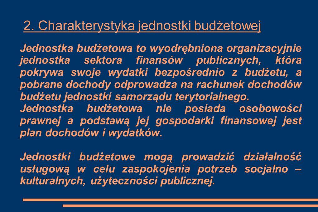 2. Charakterystyka jednostki budżetowej