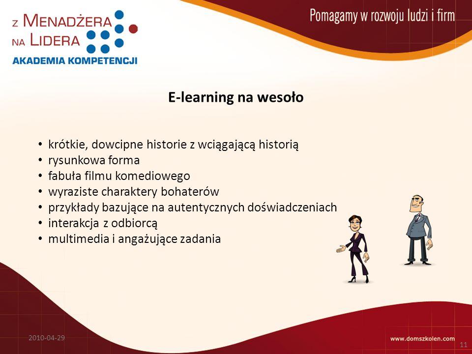 E-learning na wesoło krótkie, dowcipne historie z wciągającą historią