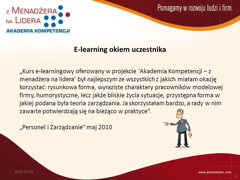 E-learning okiem uczestnika