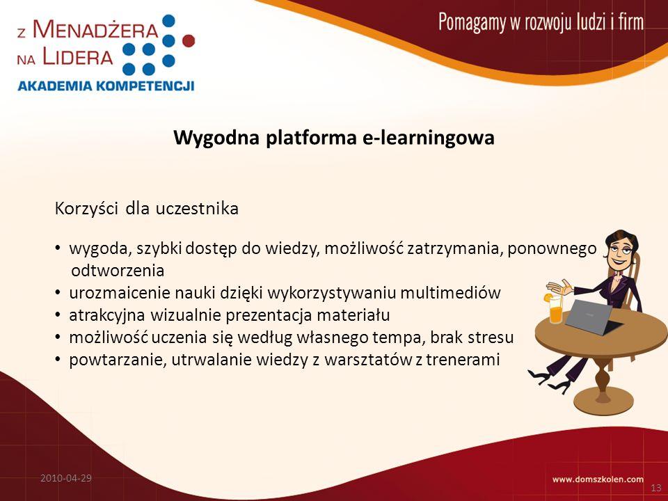 Wygodna platforma e-learningowa