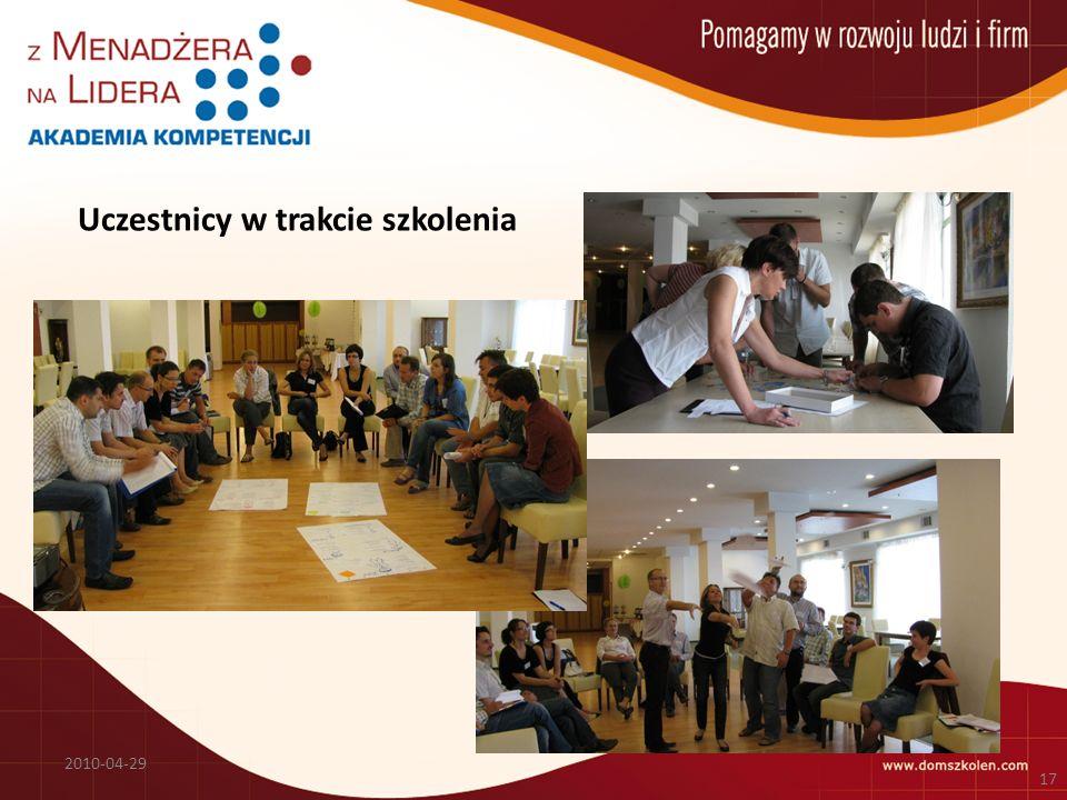 Uczestnicy w trakcie szkolenia