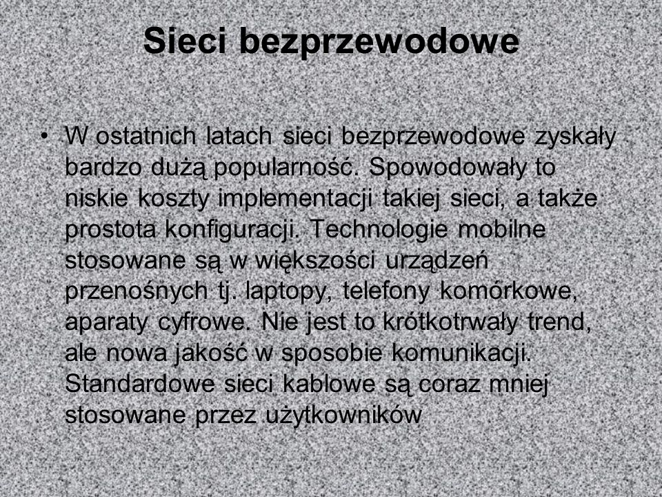 Sieci bezprzewodowe