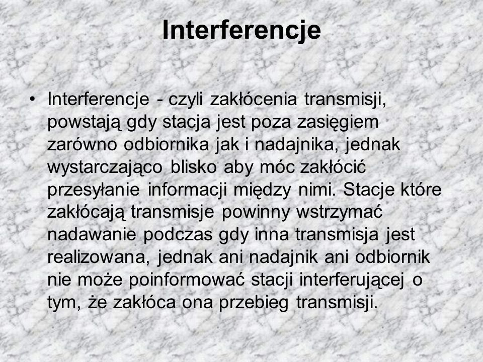 Interferencje
