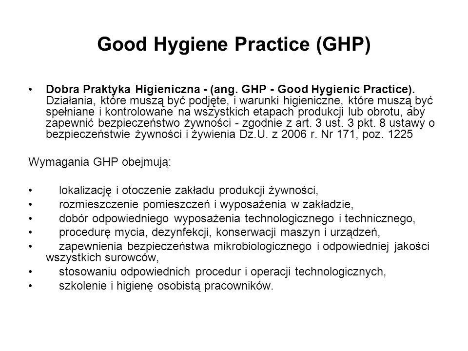 Good Hygiene Practice (GHP)