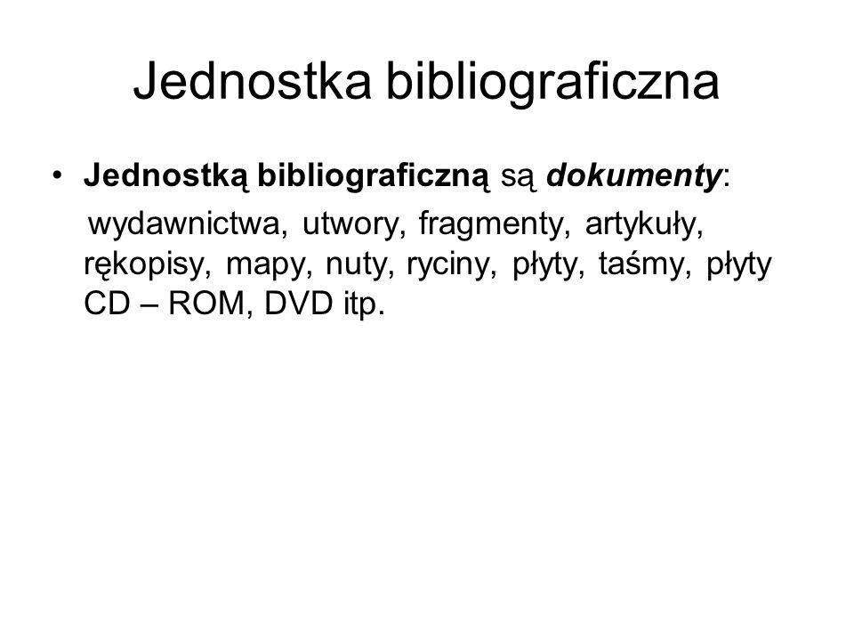 Jednostka bibliograficzna