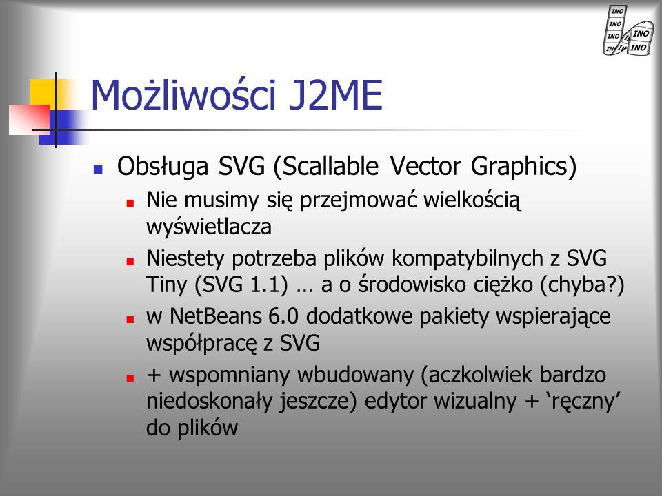 Możliwości J2ME Obsługa SVG (Scallable Vector Graphics)