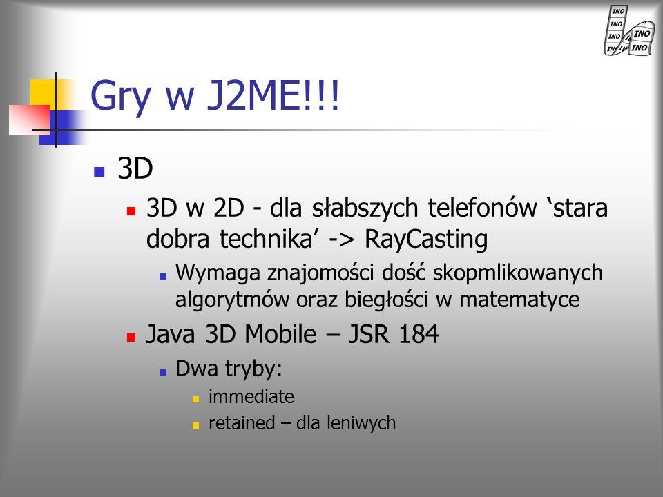 Gry w J2ME!!!3D. 3D w 2D - dla słabszych telefonów 'stara dobra technika' -> RayCasting.
