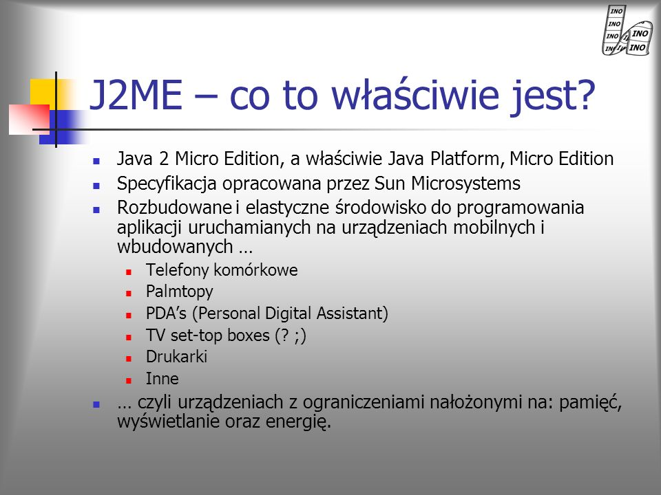 J2ME – co to właściwie jest