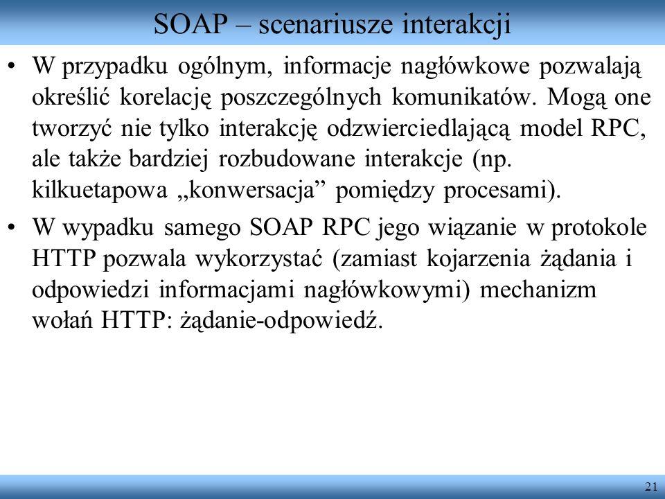 SOAP – scenariusze interakcji