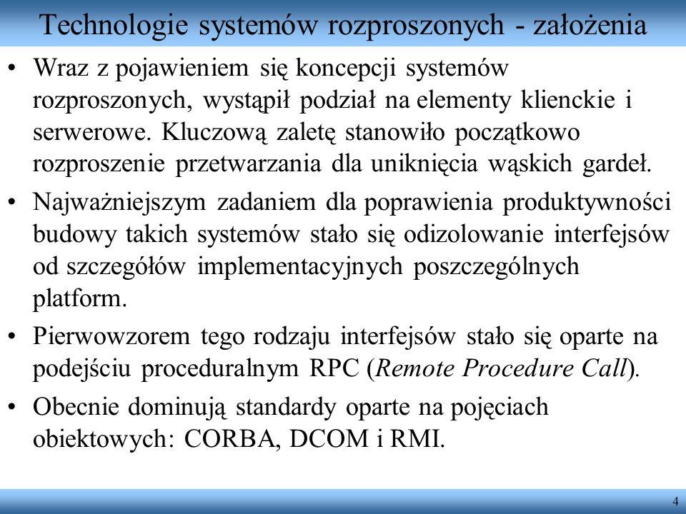 Technologie systemów rozproszonych - założenia