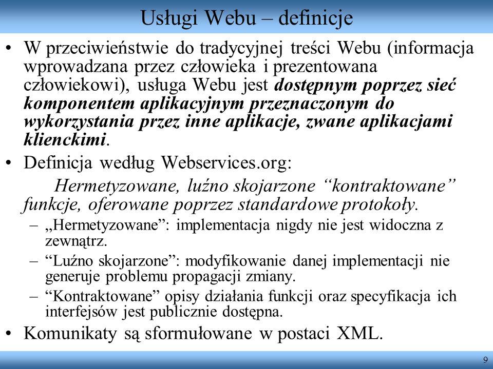 Usługi Webu – definicje