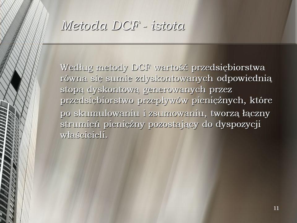 Metoda DCF - istota