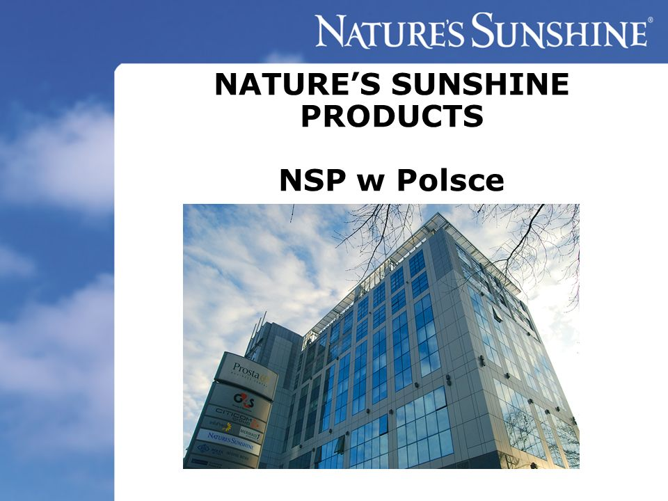 NATURE'S SUNSHINE PRODUCTS NSP w Polsce