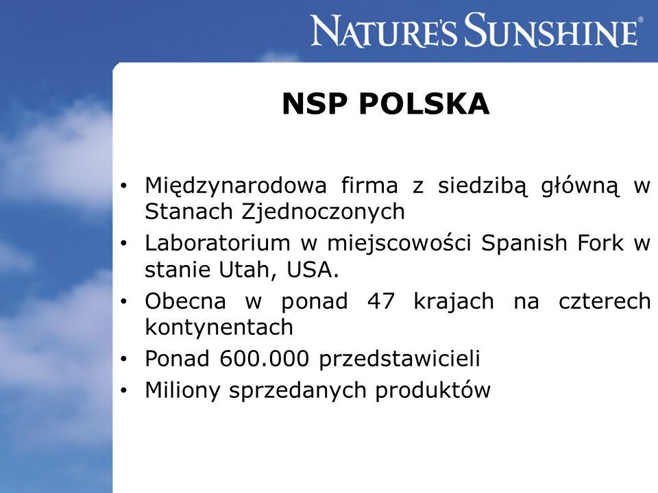 NSP POLSKA Międzynarodowa firma z siedzibą główną w Stanach Zjednoczonych. Laboratorium w miejscowości Spanish Fork w stanie Utah, USA.