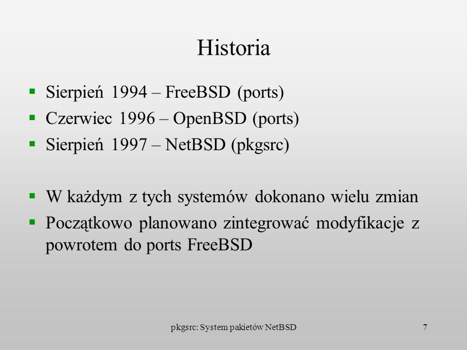 pkgsrc: System pakietów NetBSD