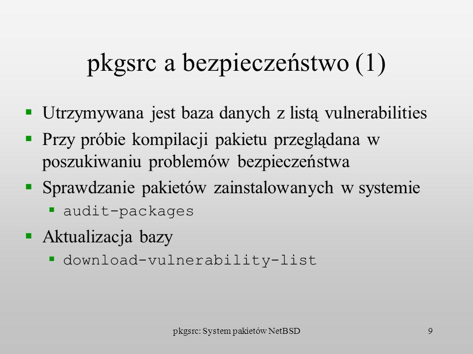 pkgsrc a bezpieczeństwo (1)