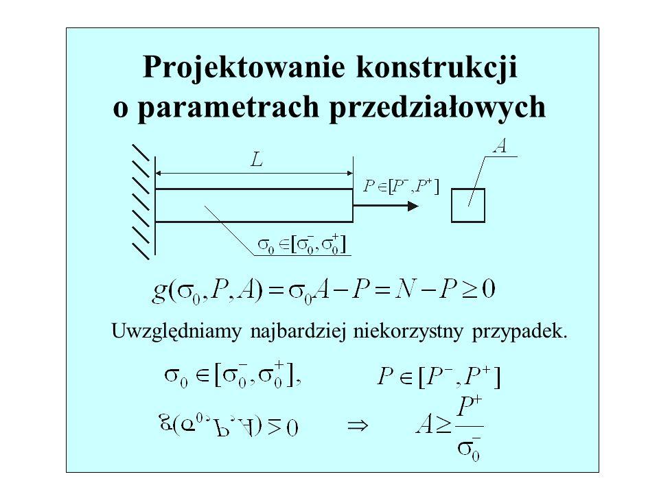 Projektowanie konstrukcji o parametrach przedziałowych