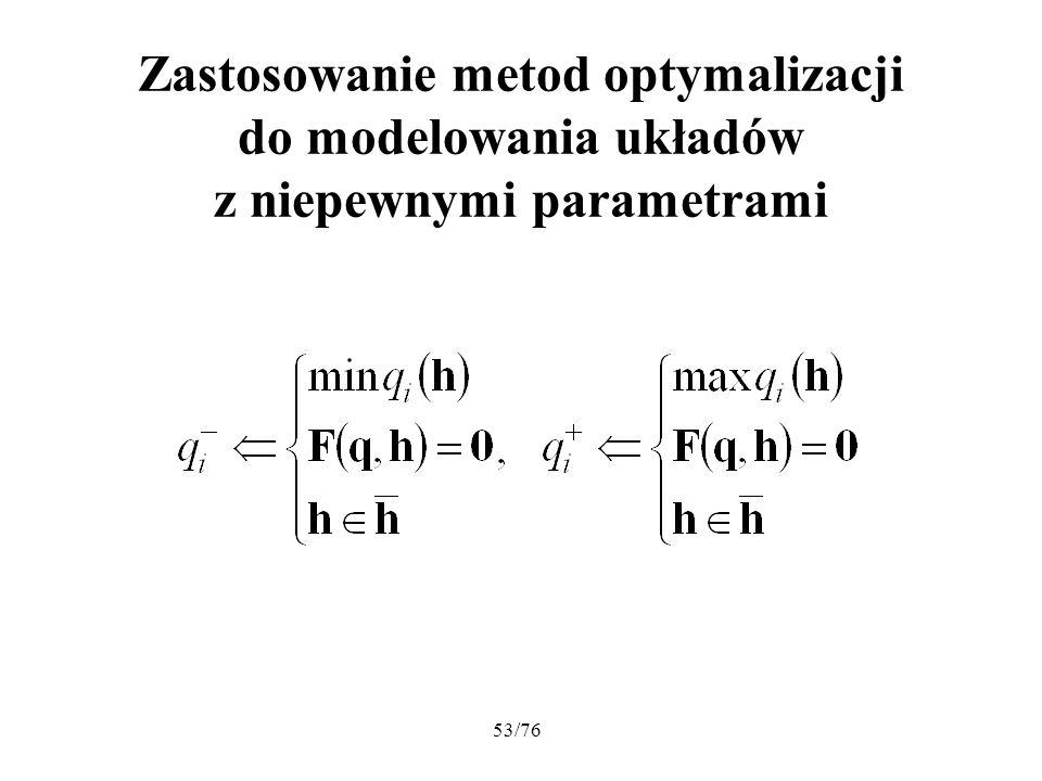 Zastosowanie metod optymalizacji do modelowania układów z niepewnymi parametrami
