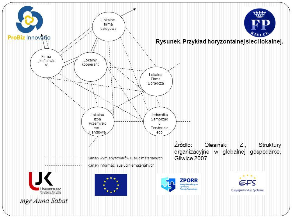 Rysunek. Przykład horyzontalnej sieci lokalnej.