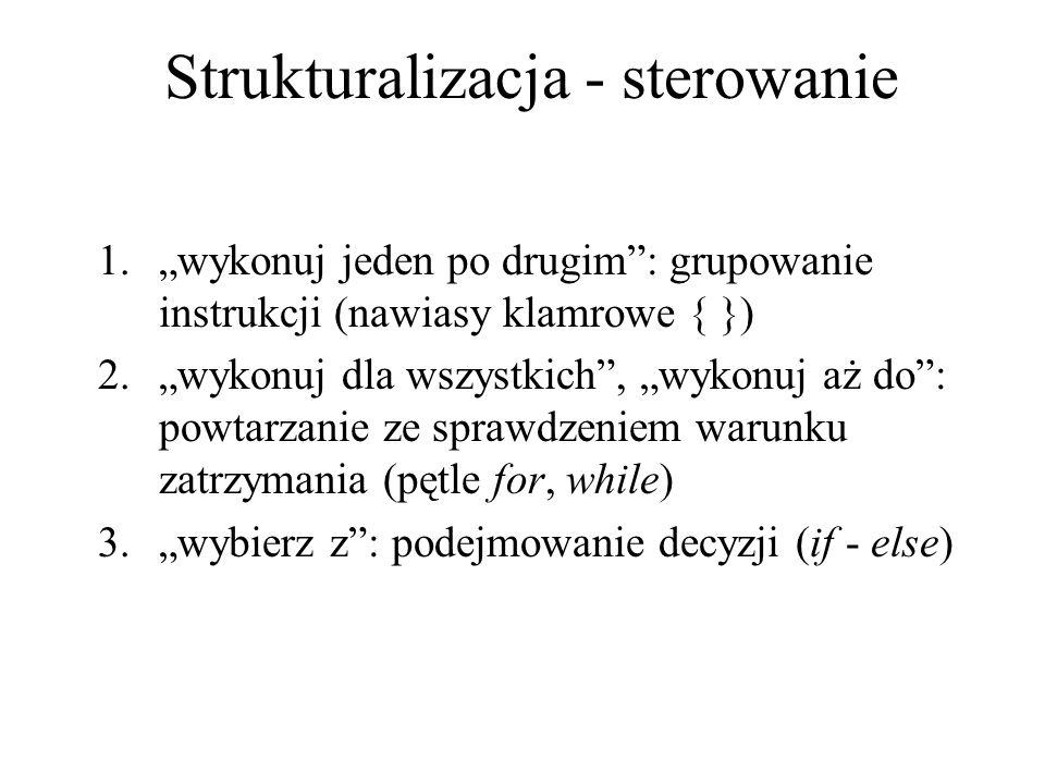 Strukturalizacja - sterowanie