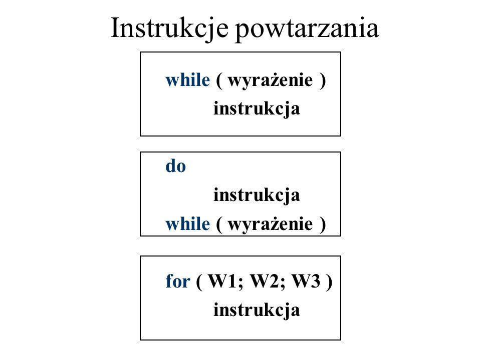 Instrukcje powtarzania