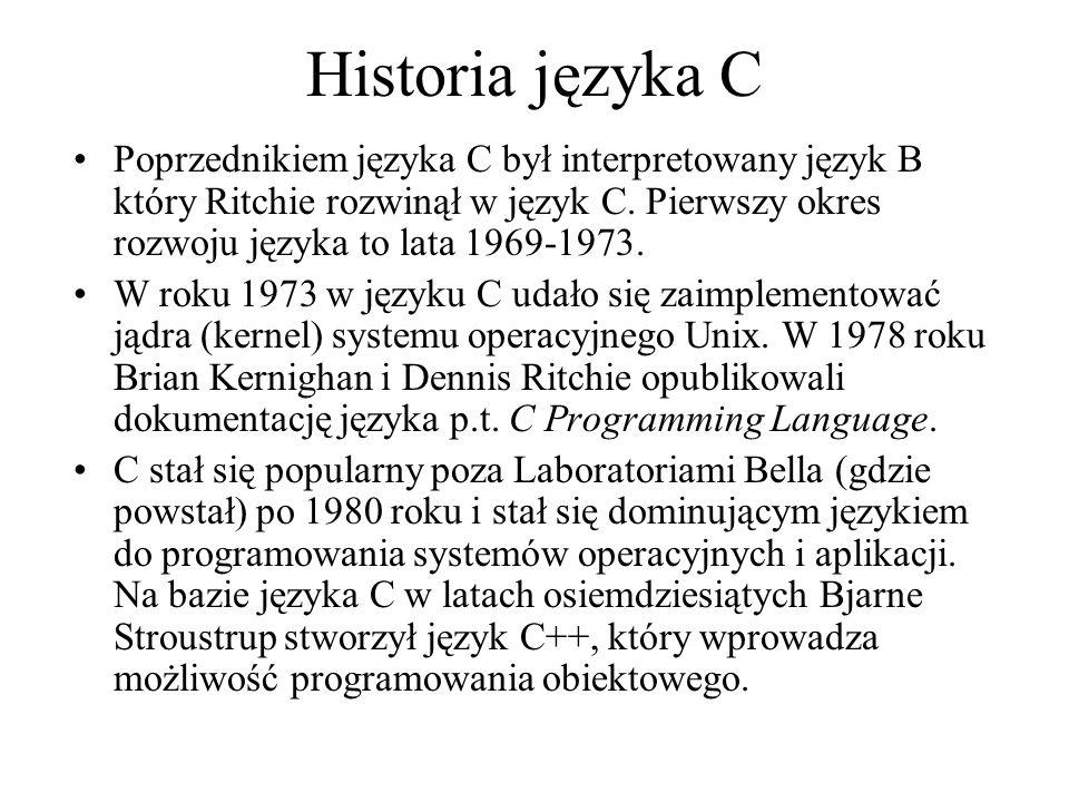 Historia języka C