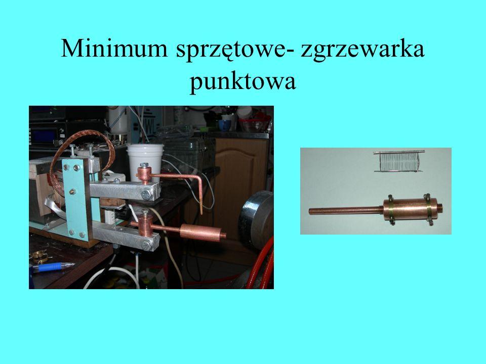 Minimum sprzętowe- zgrzewarka punktowa