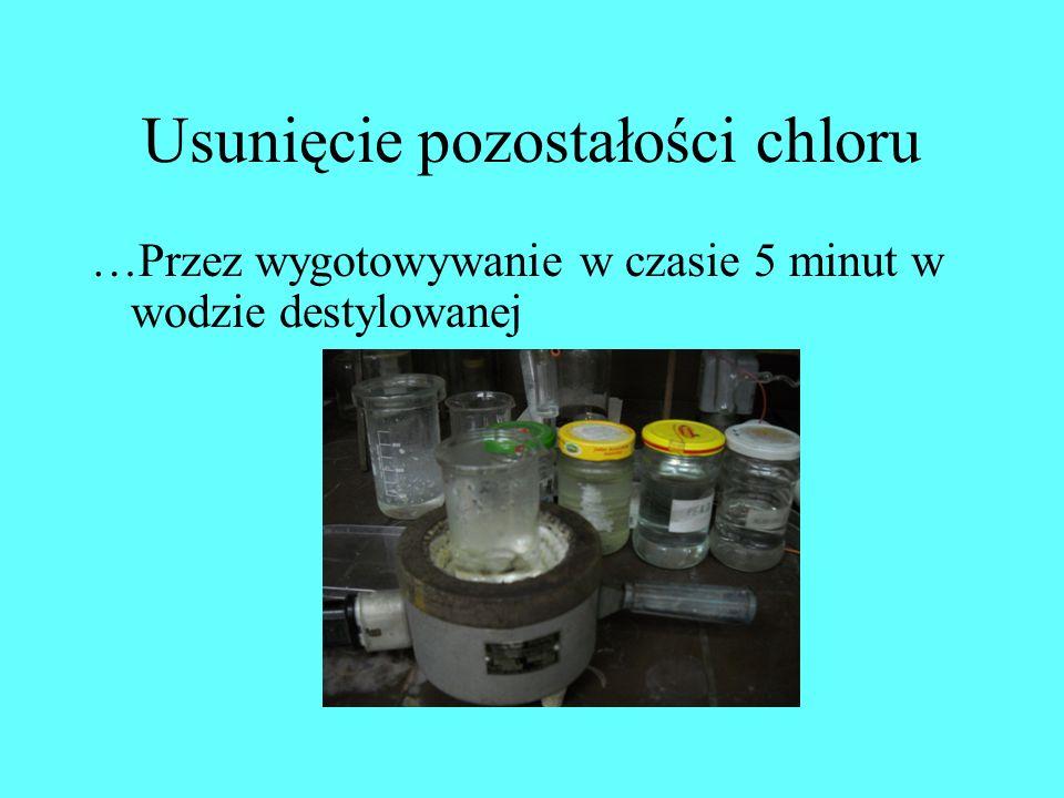 Usunięcie pozostałości chloru