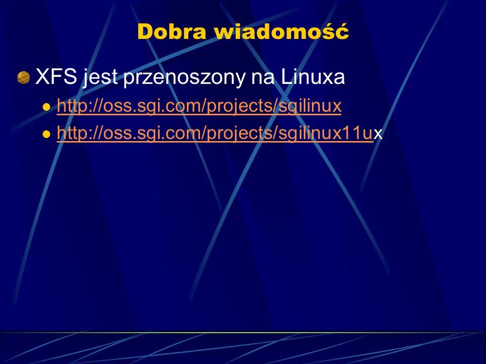 XFS jest przenoszony na Linuxa