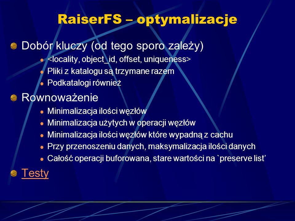 RaiserFS – optymalizacje