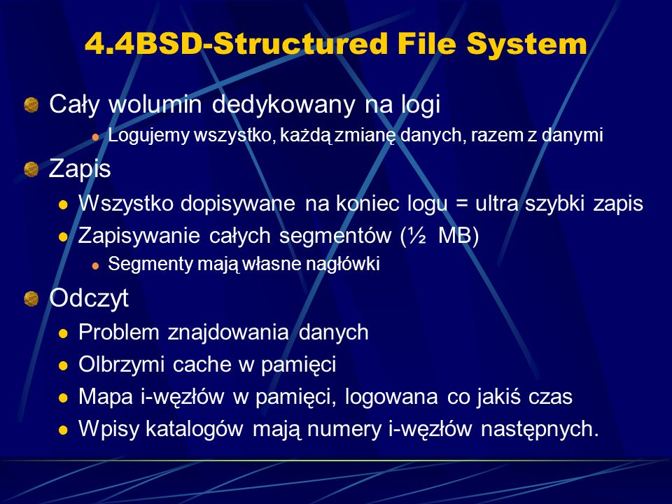 4.4BSD-Structured File System