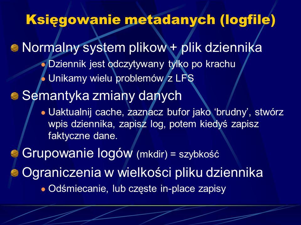 Księgowanie metadanych (logfile)