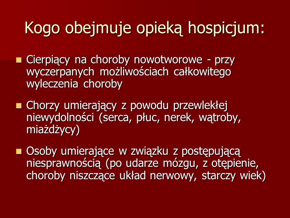 Kogo obejmuje opieką hospicjum: