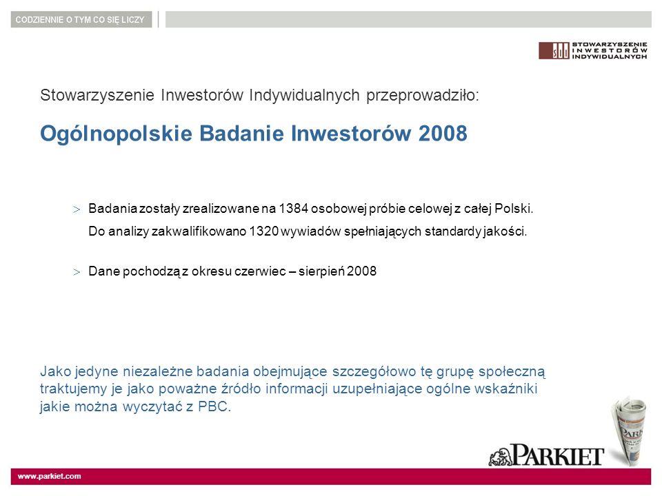 Ogólnopolskie Badanie Inwestorów 2008