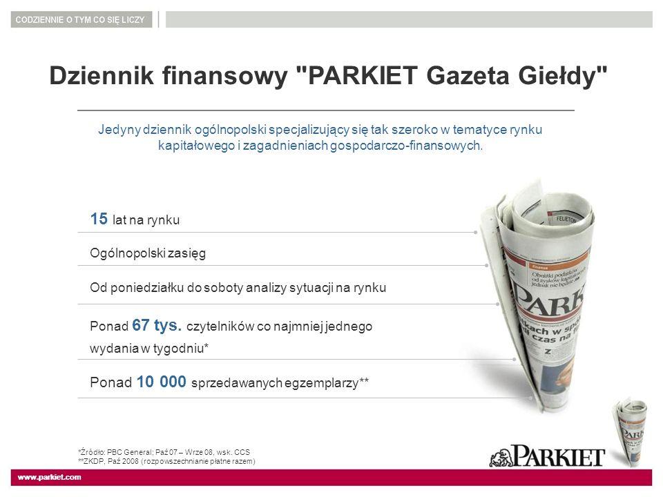 Dziennik finansowy PARKIET Gazeta Giełdy