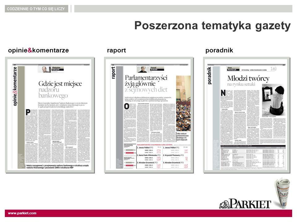 Poszerzona tematyka gazety