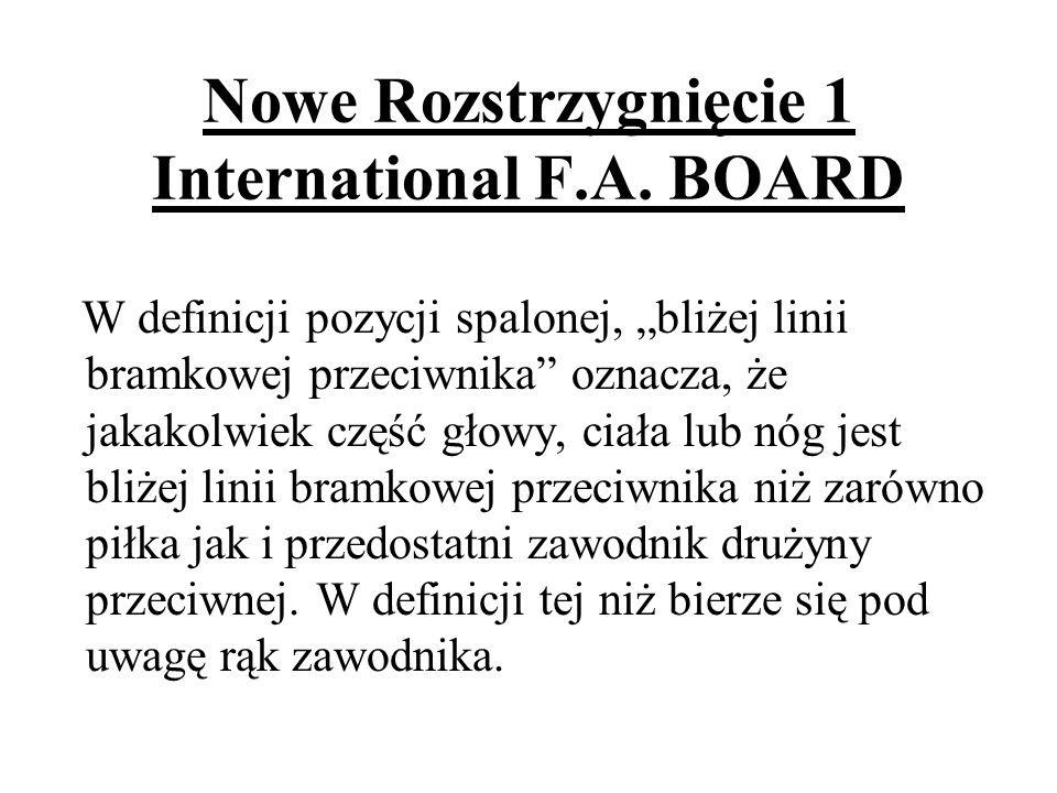 Nowe Rozstrzygnięcie 1 International F.A. BOARD
