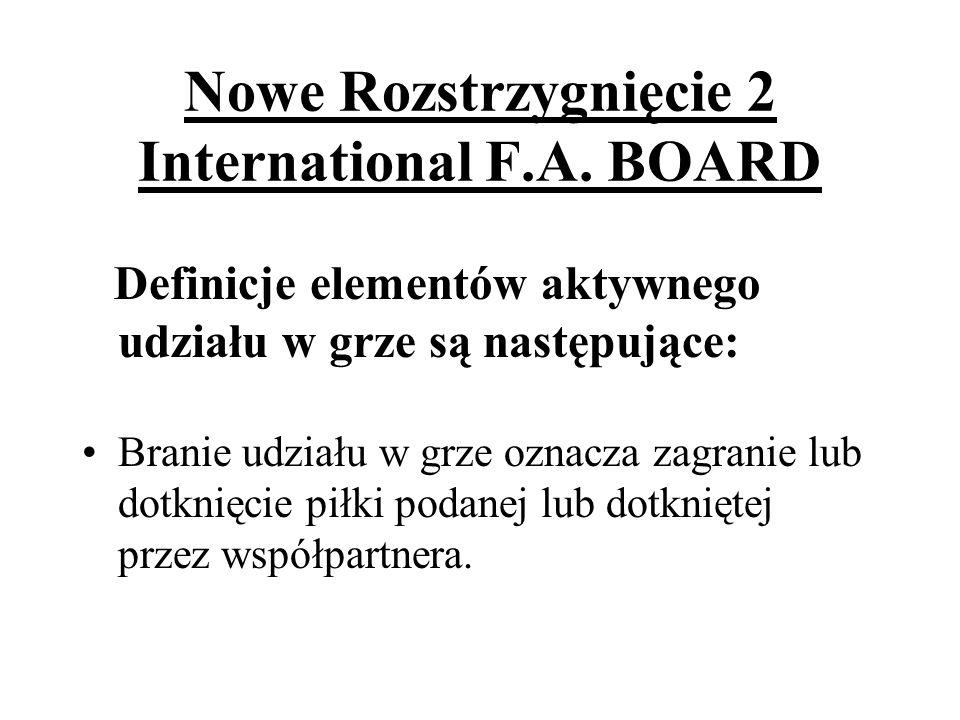 Nowe Rozstrzygnięcie 2 International F.A. BOARD