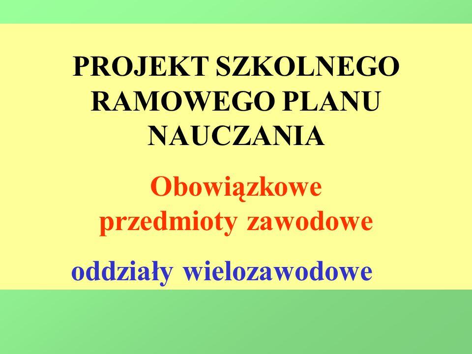 RAMOWEGO PLANU NAUCZANIA oddziały wielozawodowe