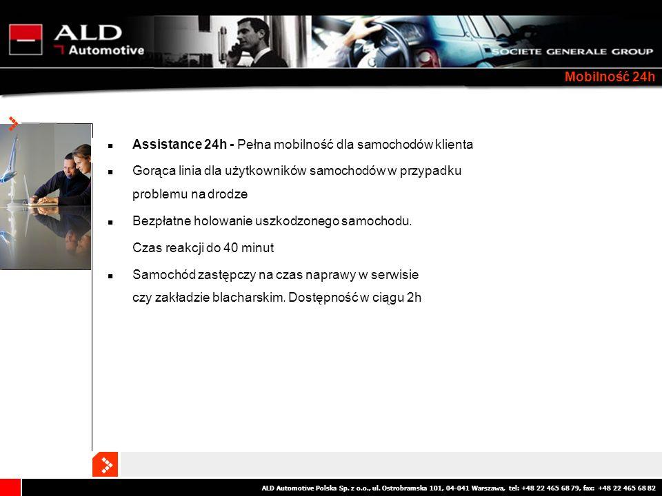 Mobilność 24h Assistance 24h - Pełna mobilność dla samochodów klienta. Gorąca linia dla użytkowników samochodów w przypadku problemu na drodze.