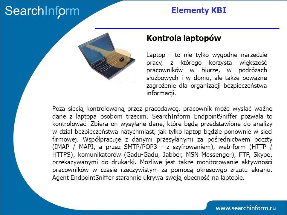 Elementy KBI Kontrola laptopów