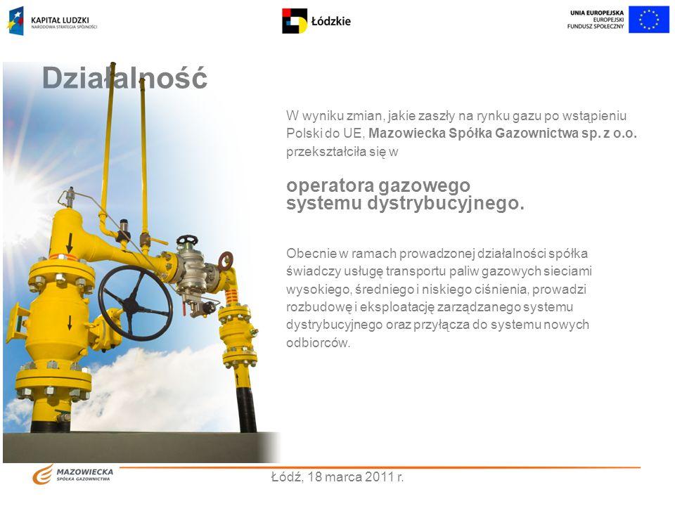 Działalność operatora gazowego systemu dystrybucyjnego.