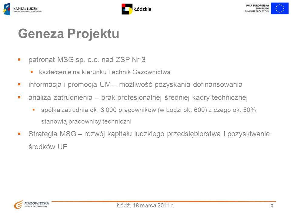 Geneza Projektu patronat MSG sp. o.o. nad ZSP Nr 3