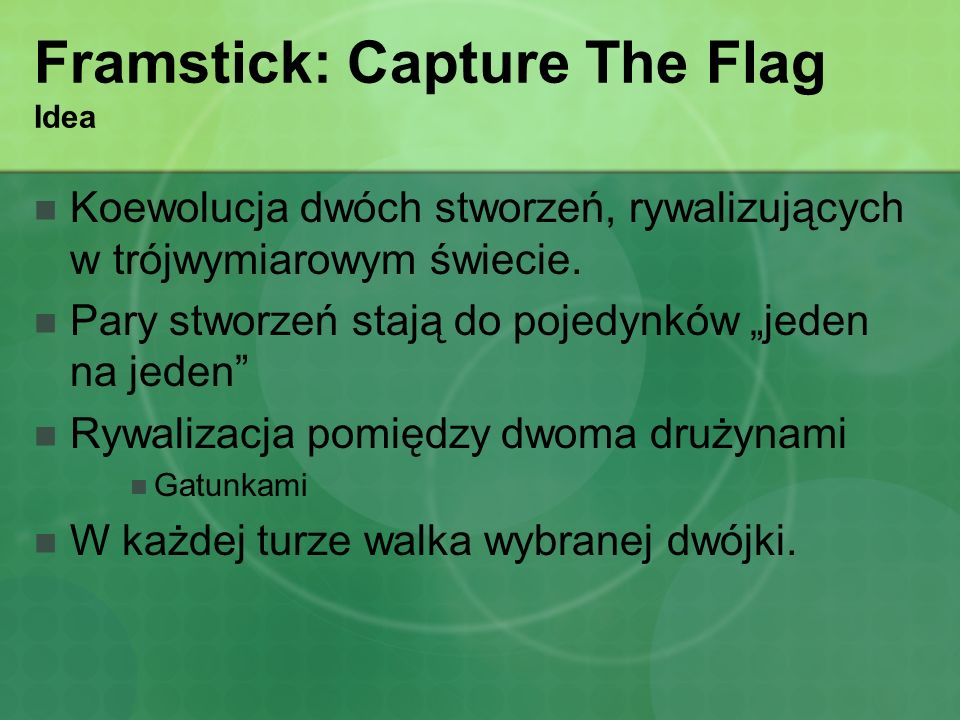 Framstick: Capture The Flag Idea