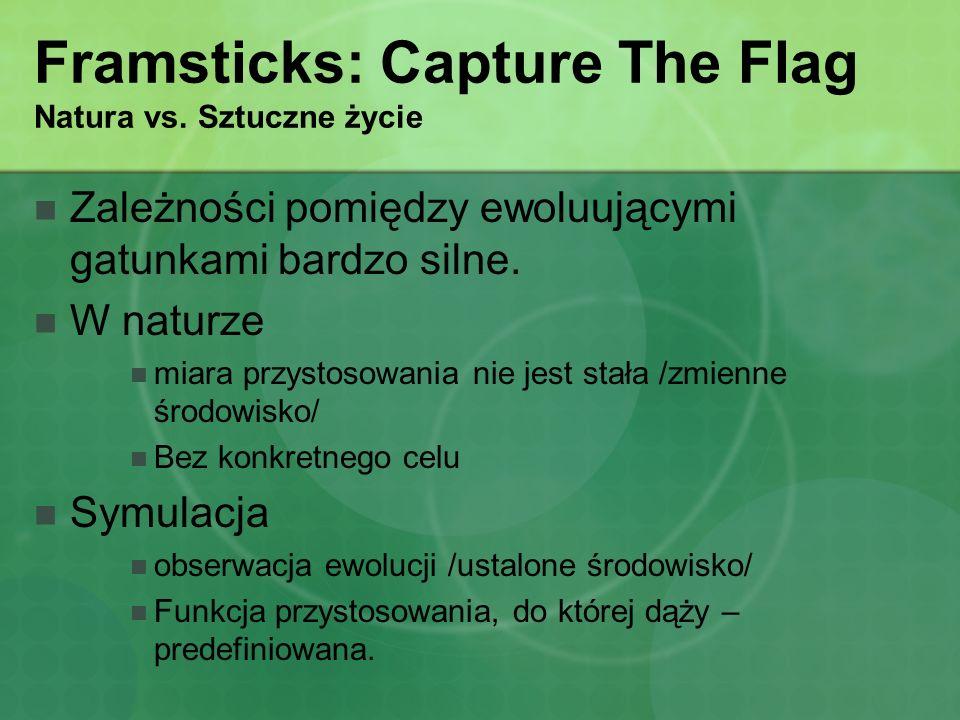 Framsticks: Capture The Flag Natura vs. Sztuczne życie