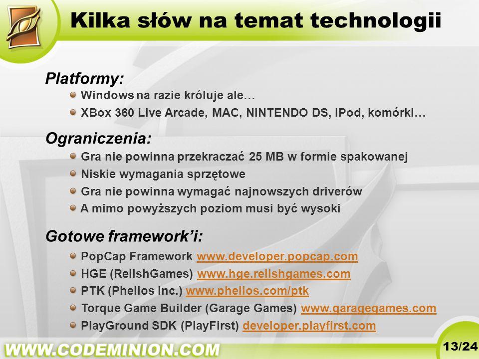 Kilka słów na temat technologii